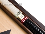 15-inch Walnut and Oak Backgammon Set - Black