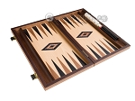 picture of 15-inch Walnut and Oak Backgammon Set - Black (9 of 12)
