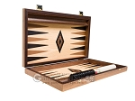 picture of 15-inch Walnut and Oak Backgammon Set - Black (10 of 12)