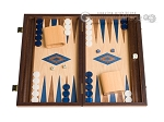 picture of 15-inch Walnut and Oak Backgammon Set - Blue (1 of 12)