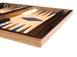 picture of 15-inch Walnut and Oak Backgammon Set - Blue (5 of 11)