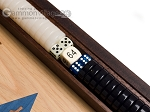 picture of 15-inch Walnut and Oak Backgammon Set - Blue (8 of 12)