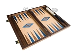 picture of 15-inch Walnut and Oak Backgammon Set - Blue (9 of 12)