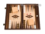 picture of 15-inch Walnut and Oak Backgammon Set - Brown (1 of 12)