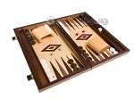 picture of 15-inch Walnut and Oak Backgammon Set - Brown (2 of 12)