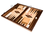 picture of 15-inch Walnut and Oak Backgammon Set - Brown (1 of 11)