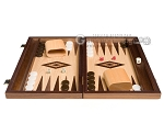 picture of 15-inch Walnut and Oak Backgammon Set - Brown (3 of 11)