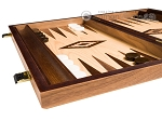 picture of 15-inch Walnut and Oak Backgammon Set - Brown (4 of 11)