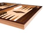 picture of 15-inch Walnut and Oak Backgammon Set - Brown (6 of 12)