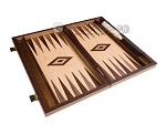 picture of 15-inch Walnut and Oak Backgammon Set - Brown (9 of 12)