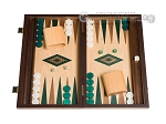 picture of 15-inch Walnut and Oak Backgammon Set - Green (1 of 12)
