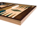 picture of 15-inch Walnut and Oak Backgammon Set - Green (5 of 11)