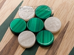 picture of 15-inch Walnut and Oak Backgammon Set - Green (6 of 11)