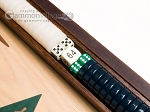 picture of 15-inch Walnut and Oak Backgammon Set - Green (7 of 11)
