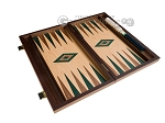picture of 15-inch Walnut and Oak Backgammon Set - Green (9 of 12)