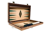 picture of 15-inch Walnut and Oak Backgammon Set - Green (10 of 12)