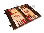 picture of 15-inch Walnut and Oak Backgammon Set - Red (2 of 11)