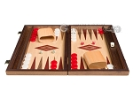 picture of 15-inch Walnut and Oak Backgammon Set - Red (3 of 11)