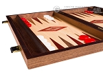 picture of 15-inch Walnut and Oak Backgammon Set - Red (4 of 11)
