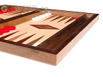 picture of 15-inch Walnut and Oak Backgammon Set - Red (5 of 11)