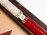 picture of 15-inch Walnut and Oak Backgammon Set - Red (7 of 11)