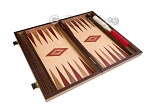 picture of 15-inch Walnut and Oak Backgammon Set - Red (8 of 11)