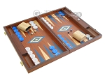 picture of 19-inch Mahogany Backgammon Set - Blue (2 of 12)