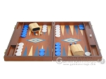 picture of 19-inch Mahogany Backgammon Set - Blue (4 of 12)