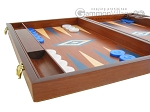 picture of 19-inch Mahogany Backgammon Set - Blue (5 of 12)