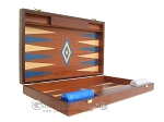 picture of 19-inch Mahogany Backgammon Set - Blue (7 of 12)