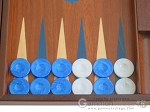 picture of 19-inch Mahogany Backgammon Set - Blue (8 of 12)