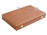 picture of 19-inch Mahogany Backgammon Set - Blue (9 of 12)