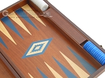 picture of 19-inch Mahogany Backgammon Set - Blue (10 of 12)