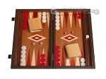 picture of 15-inch Mahogany Backgammon Set - Red (1 of 12)