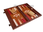 picture of 15-inch Mahogany Backgammon Set - Red (2 of 11)
