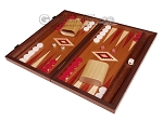 15-inch Mahogany Backgammon Set - Red - Item: 2856