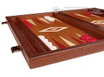 15-inch Mahogany Backgammon Set - Red