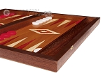 picture of 15-inch Mahogany Backgammon Set - Red (6 of 12)