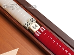 picture of 15-inch Mahogany Backgammon Set - Red (8 of 12)
