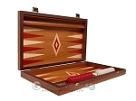 picture of 15-inch Mahogany Backgammon Set - Red (10 of 12)