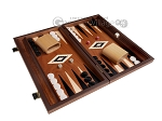 picture of 15-inch Mahogany Backgammon Set - Black (2 of 12)