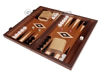 picture of 15-inch Mahogany Backgammon Set - Black (3 of 12)