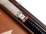 picture of 15-inch Mahogany Backgammon Set - Black (7 of 12)
