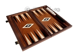 15-inch Mahogany Backgammon Set - Black