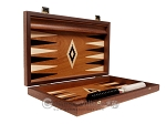 picture of 15-inch Mahogany Backgammon Set - Black (10 of 12)