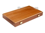 15-inch Mahogany Backgammon Set - Black - Item: 2855