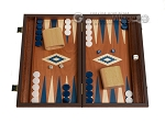 15-inch Mahogany Backgammon Set - Blue - Item: 2858