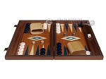 picture of 15-inch Mahogany Backgammon Set - Blue (3 of 11)