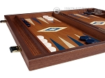 picture of 15-inch Mahogany Backgammon Set - Blue (4 of 11)