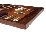 picture of 15-inch Mahogany Backgammon Set - Blue (6 of 12)